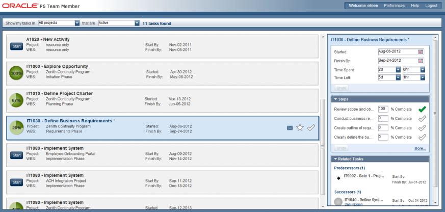 Oracle Primavera softversko sučelje